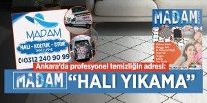 """Ankara'da profesyonel temizliğin adresi: """"Madam Halı Yıkama"""""""
