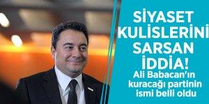 Siyaset kulislerini sarsan iddia! Ali Babacan'ın kuracağı partinin ismi belli oldu