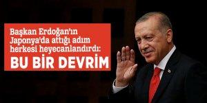 Başkan Erdoğan'ın Japonya'da attığı adım herkesi heyecanlandırdı: Bu bir devrim