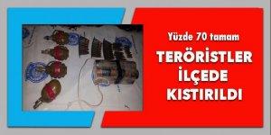 Teröristler ilçede kıstırıldı, yüzde 70 tamam!
