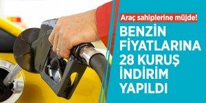 Araç sahiplerine müjde! Benzin fiyatlarına 28 kuruş indirim yapıldı