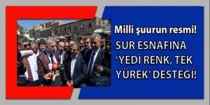 Diyarbakır Sur esnafına 'Yedi renk tek yürek' desteği
