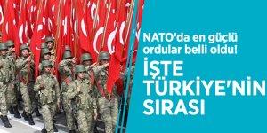 NATO'da en güçlü ordular belli oldu! İşte Türkiye'nin sırası