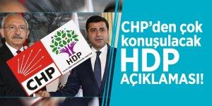 CHP'den çok konuşulacak HDP açıklaması!