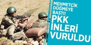 Mehmetçik düğmeye bastı! PKK inleri vuruldu