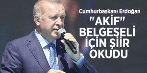 """Cumhurbaşkanı Erdoğan """"Akif"""" belgeseli için şiir okudu"""