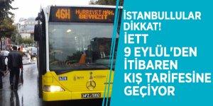 İstanbullular dikkat! İETT 9 Eylül'den itibaren kış tarifesine geçiyor