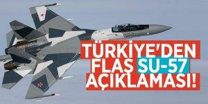 Türkiye'den flaş Su-57 açıklaması!