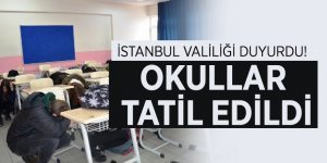İstanbul Valiliği duyurdu! Okullar tatil...