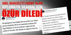 ABD Bahçeli'yi hedef alan diplomatik skandal için ÖZÜR diledi.