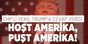 CHP'li vekil Trump'a cevap verdi: Hoşt Amerika, Puşt Amerika!