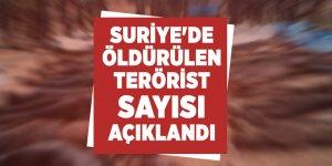 Suriye'de öldürülen terörist sayısı açıklandı