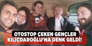 Otostop çeken gençler Kemal Kılıçdaroğlu'na denk geldi!