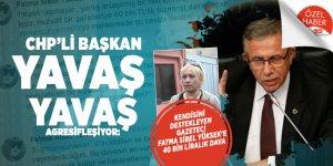 CHP'li Başkan YAVAŞ yavaş agresifleşiyor: Kendisini destekleyen Gazeteci Fatma Sibel Yüksek'e 40 bin liralık dava