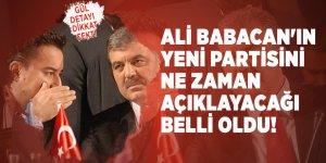 Ali Babacan'ın yeni partisini ne zaman açıklayacağı belli oldu! Gül detayı dikkat çekti