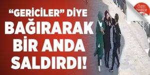 """İstanbul'da bir kadın """"gericiler"""" diye bağırarak başörtülü bir kıza saldırdı!"""