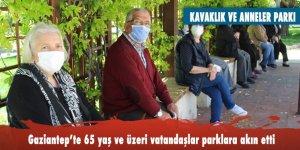 Gaziantep'te 65 yaş ve üzeri vatandaşlar parklara akın etti