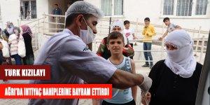 Türk Kızılay'ı Ağrı'da ihtiyaç sahiplerine Bayram ettirdi