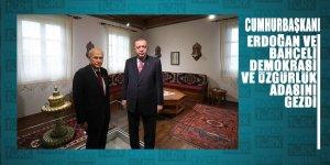 Erdoğan ve Bahçeli eski adı Yassıada olanDemokrasi ve Özgürlükler Adası'nı gezdi