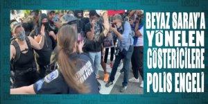 ABD'de Beyaz Saray'a yönelin göstericileri polis engelledi