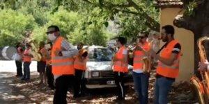 Fethiye'de farkındalık için bando eşliğinde çevre temizliği yapıldı