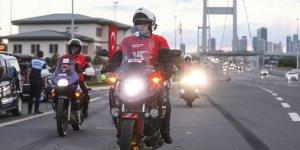 Türkiye Motosiklet Federasyonu'nun 15 Temmuz sürüşü İstanbul'dan başladı