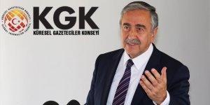 Küresel Gazeteciler Konseyi'nden Kıbrıs Cumhurbaşkanı Mustafa Akıncı'ya sert tepki!