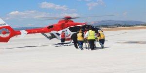 Ambulans helikopter mahsur kaldı!