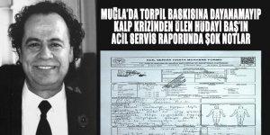 Muğla'da, Olgunlaşma Enstitüsü Müdürü Hüdayi Baş'ın Acil Servis Raporu torpil baskısıyla ölüm iddialarını kuvvetlendirdi