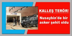 Nusaybin'de bir asker şehit oldu