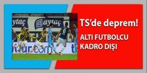 Trabzonspor'da deprem: 6 futbolcu kadro dışı