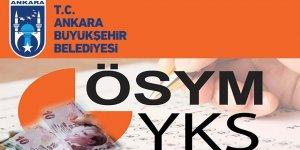 Ankara Büyükşehir Belediyesi, 6 bin 521 öğrenciye YKS giriş ücreti için 300'er lira destek verdi