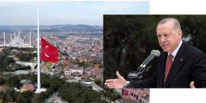 Cumhurbaşkanı Erdoğan, Türkiye'nin en uzun bayrak direğinde ilk bayrağın göndere çekilmesi töreninde konuştu