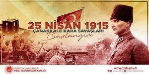 MSB, Çanakkale Kara Savaşları'nın 106. yılı dolayısıyla mesaj paylaştı