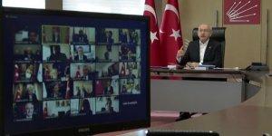 Kılıçdaroğlu partisinin belediye başkanlarına video konferans yoluyla hitap etti