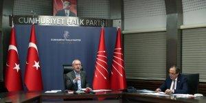Kılıçdaroğlu, Marmara Bölgesi'ndeki CHP'li ilçe belediye başkanları ile video konferans yöntemiyle bir araya geldi