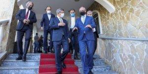 Gelecek Partisi Genel Başkanı Davutoğlu, Filistin'in Ankara Büyükelçisi Mustafa'yı ziyaret etti