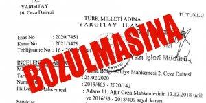 FETÖ davasında Yargıtay 16. Ceza'dan Adana'yı şok eden BOZMA kararları