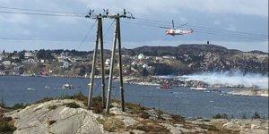 Norveç'te helikopter düştü!