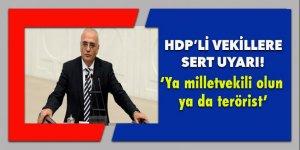 HDP'li vekillere sert uyarı: 'Ya milletvekili olun ya da terörist