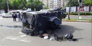 Diyarbakır'da zırhlı polis aracı kaza yaptı!