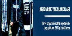 PKK'ya sahte reçete operasyonunda 23 tutuklama