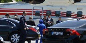 Erdoğan nikâha helikopterle gitti