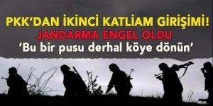 PKK'nın ikinci katliam tuzağını jandarma bozdu!