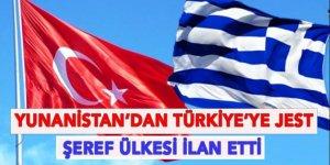 Yunanistan'dan Türkiye'ye jest! Şeref ülkesi...
