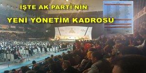 İşte AK Parti'nin yeni yönetim kadrosu