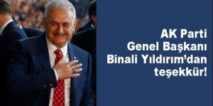 AK Parti Genel Başkanı Binali Yıldırım'dan teşekkür konuşması!