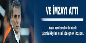 Ersun Yanal, imzayı attı