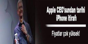 Apple CEO'sundan tarihi iPhone itirafı