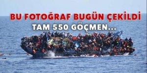 Tam 550 göçmen son anda...